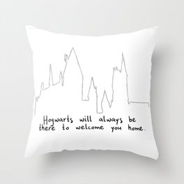 Hogwart will always be there to welcome you home! Throw Pillow