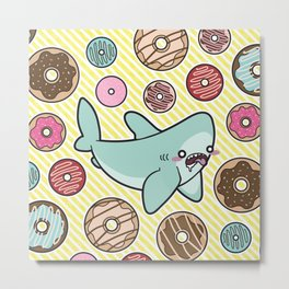 Drooling over Donuts Metal Print
