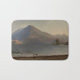 Albert Bierstadt - On the Hudson (1860s) Bath Mat