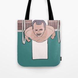 Herman Blume (Bill Murray) on Diving Board (Rushmore) Tote Bag
