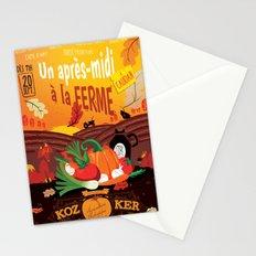 Un après-midi à la ferme : automne Stationery Cards