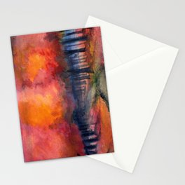 Nighttime Autumn Landscape Nature Art Stationery Cards