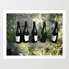 Five Green Bottles Art Print