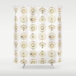 Evil Eyes – Gold Palette Shower Curtain