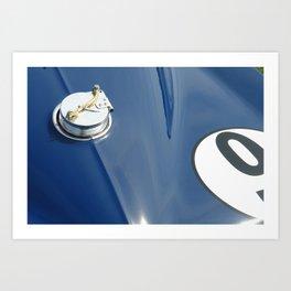 1966 Roger Penske L-88 Corvette - Blue race car #9 Art Print