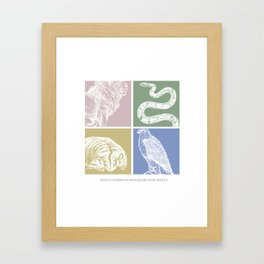 Draco dormien nunquam titillandus Framed Art Print