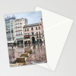 Malaga in rainy day Stationery Cards