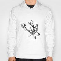 antler Hoodies featuring deer antler by oslacrimale