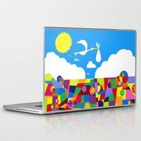 nursery Laptop & iPad Skins featuring Up! Nursery Art by foreverwars