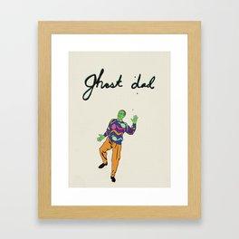 Ghost Dad Framed Art Print