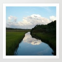 Clouds over the Canal Art Print