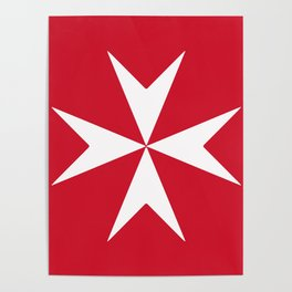 Maltese Cross Flag Poster