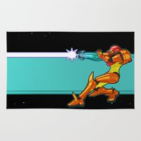 samus Area & Throw Rugs featuring Samus Aran by Arnix