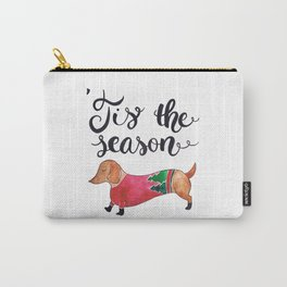 'Tis the Season for Christmas and Dog Lovers Carry-All Pouch