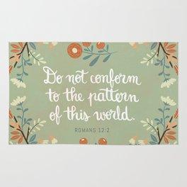 Romans 12:2 Do Not Conform Rug