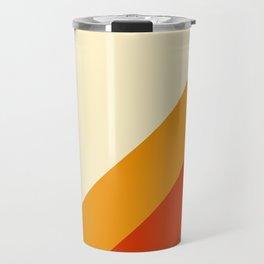 Retro Lines Diagonal Travel Mug