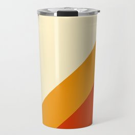 Retro Lines Diagonal Travel Mug