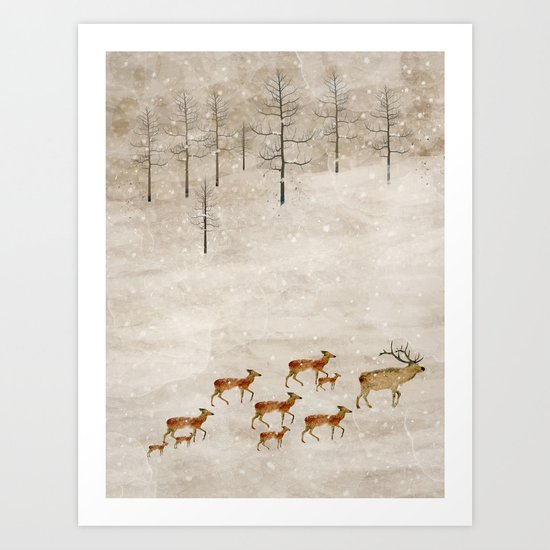 a new home for winter Art Print