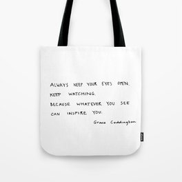 Open eyes Tote Bag