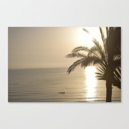 Tunisian African Beach Sunrise Canvas Print