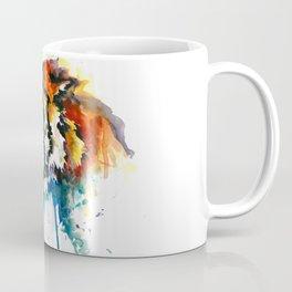Orange Mad Tiger Watercolor Coffee Mug