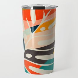 shape leave modern mid century Travel Mug