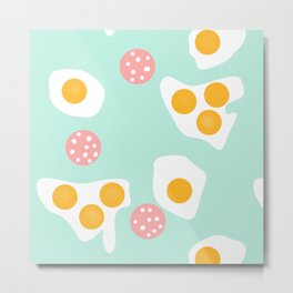 #Abstract #pattern #eggs Metal Print