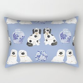 Staffordshire Dogs + Ginger Jars No. 1 Rectangular Pillow