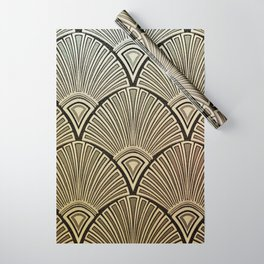 Golden Art Deco pattern Wrapping Paper