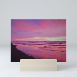 Pinks and Purples at Sunset Beachside by Reay of Light Photography Mini Art Print