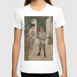 Belmiro de Almeida - Two Boys Playing with a Kendama Toy T-shirt