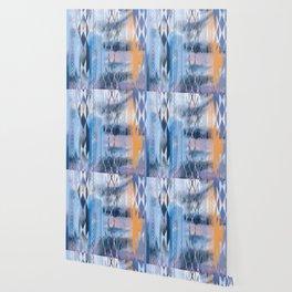 Blue Tribal No.2 Wallpaper