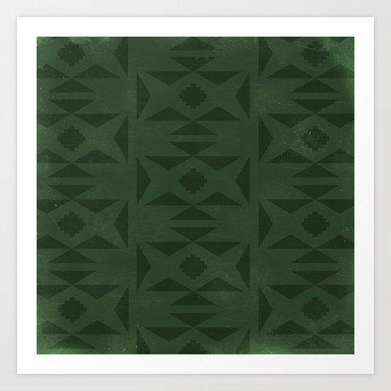 Wild (Green) Art Print
