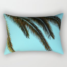 High-Contrast Palm Fronds Rectangular Pillow