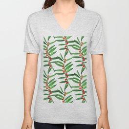 Christmas Botanical Unisex V-Neck
