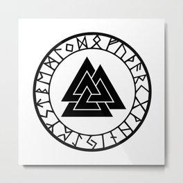 Norse - Valknut II Metal Print