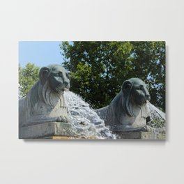 Fontaine aux Lions Paris Metal Print