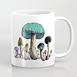 Watercolor, Pen & Ink Mushroom Collection Coffee Mug