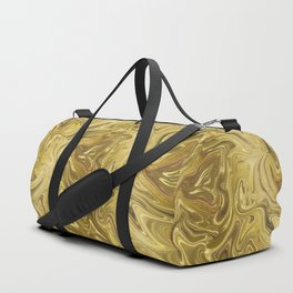 Rich Gold Shimmering Glamorous Luxury Marble Duffle Bag