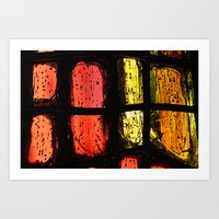 stained glass Art Prints featuring Stained glass by Pirmin Nohr