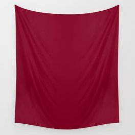 Oxblood - solid color Wall Tapestry