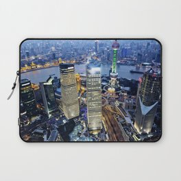 Shanghai By Night Laptop Sleeve