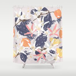 Tropical lemons. Trendy print Shower Curtain