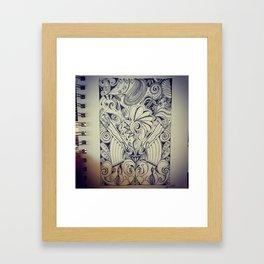 Brat Doll Art - Zen Chicken Framed Art Print