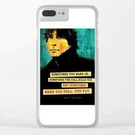 Neil Gaiman Quote Clear iPhone Case