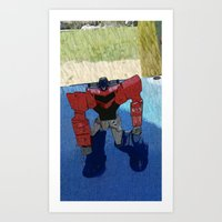 optimus prime Art Prints featuring Optimus by Tara Michele