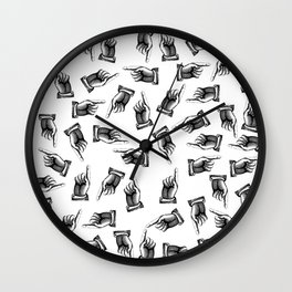 Pointing finger pattern Wall Clock