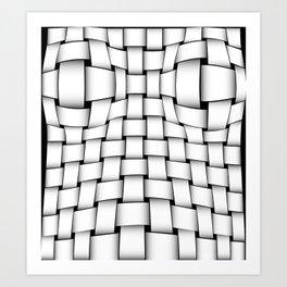 intertwined bands Art Print