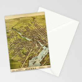 Bird's eye view of the City of Bangor, Penobscot County, Maine (1875) Stationery Cards