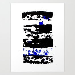 Dotted blue Art Print